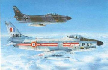 F-86K Sabre Dog Armée de l´Air & Bundesluftwaffe · AZU A092 ·  Azur · 1:72