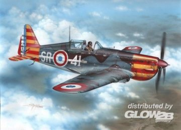 Morane Saulnier MS 406C.1 Red & Yellow Stripes · AZU A114 ·  Azur · 1:72