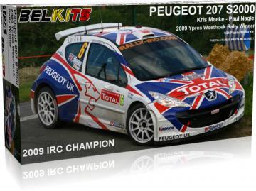 Peugeot 207 S2000 Meeke Ypres WR 2009 · BLK 001 ·  Belkits · 1:24