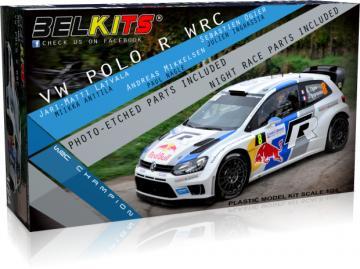 Volkswagen Polo R WRC 2013 · BLK 005 ·  Belkits · 1:24
