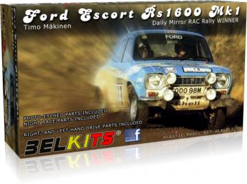 Ford Escort Rs1600 MK.1 Makinen RAC 1973 · BLK 006 ·  Belkits · 1:24