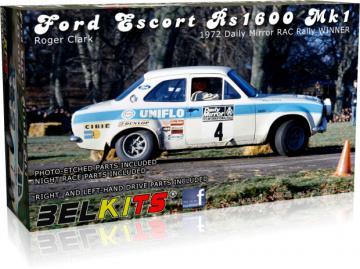 Ford Escort Rs1600 Mk.1 Clark RAC 1972 · BLK 007 ·  Belkits · 1:24