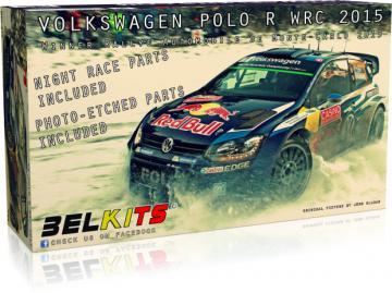 Volkswagen Polo R WRC Monte Carlo 2015 · BLK 010 ·  Belkits · 1:24