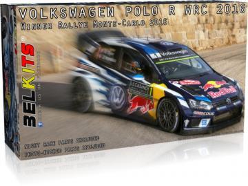 Volkswagen Polo R WRC Monte Carlo 2016 · BLK 011 ·  Belkits · 1:24