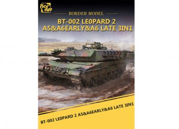 Leopard 2 A5/A6/EARLY A6 (3-in-1) · BM BT002 ·  Border Model · 1:35