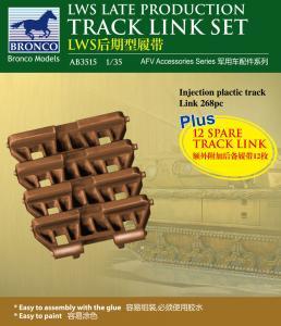 LWS Late-Production Track link set · BRON AB3515 ·  Bronco Models · 1:35