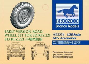 Sdkfz.221 road wheel set (Early version) · BRON AB3518 ·  Bronco Models · 1:35