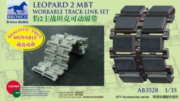 German Leopard 2 MBT Workable Track Link Set · BRON AB3528 ·  Bronco Models · 1:35