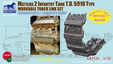 Matilda 2 T.D.5910 Type Workable Track · BRON AB3531 ·  Bronco Models · 1:35