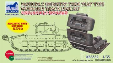 Matilda 2 Flat Type Workable Track Link · BRON AB3532 ·  Bronco Models · 1:35