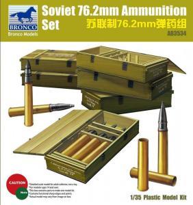 Soviet 76.2mm Ammunition Set · BRON AB3534 ·  Bronco Models · 1:35