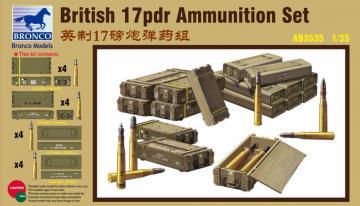 British 17pdr Ammunition Set · BRON AB3535 ·  Bronco Models · 1:35
