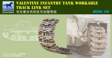 British Valentine Tank Workable Track Li Link Set · BRON AB3536 ·  Bronco Models · 1:35