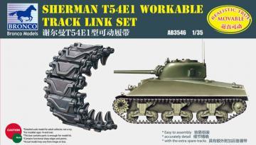 Sherman T54E1 Workable Track Link Set · BRON AB3546 ·  Bronco Models · 1:35