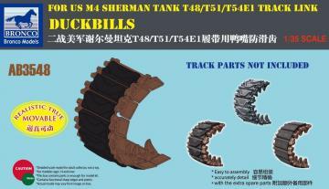 DUCKBILLS for US M4 Sherman Tank T48/T51 /T54E1 Track Link · BRON AB3548 ·  Bronco Models · 1:35