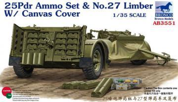 25pdr Ammo set&No.27 Limber w/CanvasCove · BRON AB3551 ·  Bronco Models · 1:35
