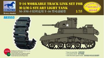 T-16 Workable Track Set f.M-3/M-5 Stuart · BRON AB3553 ·  Bronco Models · 1:35