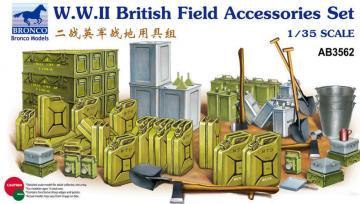 WWII British Field Accessories Set · BRON AB3562 ·  Bronco Models · 1:35
