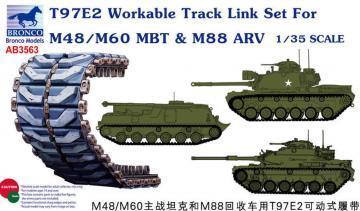 T97E2 Workable Track Link Set forM48/M60 MBT · BRON AB3563 ·  Bronco Models · 1:35