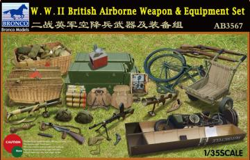 W.W.II British Airborne Weapon&Equipment Set · BRON AB3567 ·  Bronco Models · 1:35