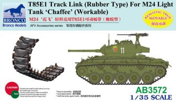 T85E1 Track Link (Rubber Type) For M24 Light Tank Chaffee (Workable · BRON AB3572 ·  Bronco Models · 1:35