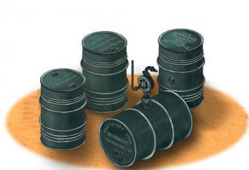 German WWII 200L Oil Drums · BRON AB3575 ·  Bronco Models · 1:35