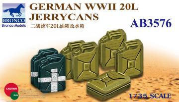 German WWII 20L Jerrycans · BRON AB3576 ·  Bronco Models · 1:35