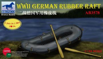 WWII German Rubber Raft · BRON AB3578 ·  Bronco Models · 1:35