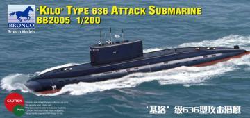 Russian Kilo Type 636 Attack Submarine · BRON BB2005 ·  Bronco Models · 1:200
