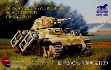 German 28cm Swurfgerat 40 Auf G.W.H39 · BRON CB35002 ·  Bronco Models · 1:35