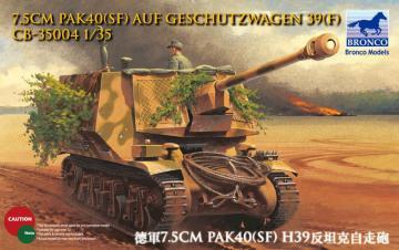 7.5cm Pak40(Sf) auf Geschutzwagen 39H(f) · BRON CB35004 ·  Bronco Models · 1:35