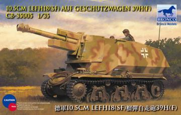 10.5cm leFH18(Sf) a.Geschutzwagen 39H(f · BRON CB35005 ·  Bronco Models · 1:35