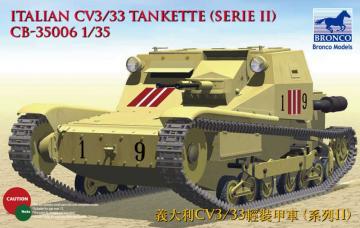 Italian CV L3/33 Tankette (Serie II) · BRON CB35006 ·  Bronco Models · 1:35