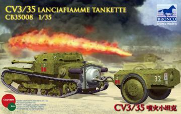 CV L3/35 Lanciafiamme Tankette · BRON CB35008 ·  Bronco Models · 1:35