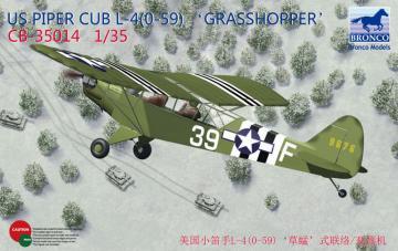 Piper Cub L4 Grasshopper · BRON CB35014 ·  Bronco Models · 1:35
