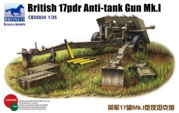British 17pdr Anti-tank gun Mk.I · BRON CB35024 ·  Bronco Models · 1:35