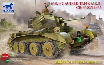 A13 Cruiser Tank Mk III · BRON CB35025 ·  Bronco Models · 1:35