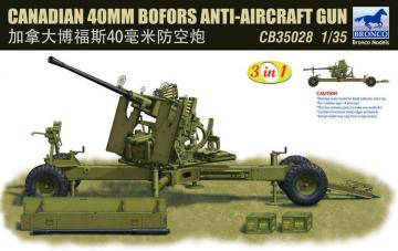 Canadian 40mm Bofors Anti-Aircraft Gun · BRON CB35028 ·  Bronco Models · 1:35
