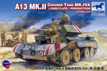 A13 Mk.II Cruiser Tank Mk.IVA(Early/Late Production · BRON CB35029 ·  Bronco Models · 1:35