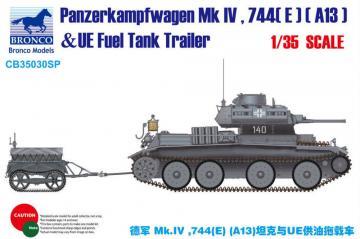 Panzerkampfwagen Mk.IV.744(E)(A13)& UE Trailer · BRON CB35030SP ·  Bronco Models · 1:35