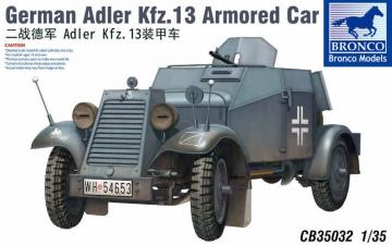 Adler Kfz.13 · BRON CB35032 ·  Bronco Models · 1:35
