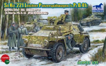Sd.KFZ.221 Leichter Panzerspahwagen(s.Pz B.41) · BRON CB35033 ·  Bronco Models · 1:35