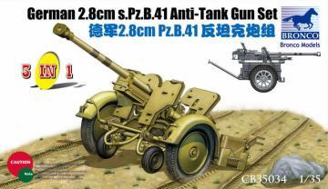 German 2.8cm s.PZ.B.41  (3 in 1) · BRON CB35034 ·  Bronco Models · 1:35