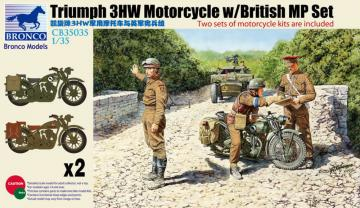 Triumph 3HW Motorcycle w/MP Figure Set · BRON CB35035 ·  Bronco Models · 1:35