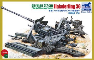 German 3.7cm Flak 36 · BRON CB35042 ·  Bronco Models · 1:35