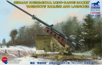 German Rheinmetall Rheinbote Rakete Rheinbote(Rh.Z.61/9) and launcher · BRON CB35048 ·  Bronco Models · 1:35