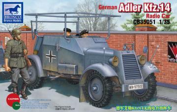 Adler Kfz. 14 Funkwagen · BRON CB35051 ·  Bronco Models · 1:35