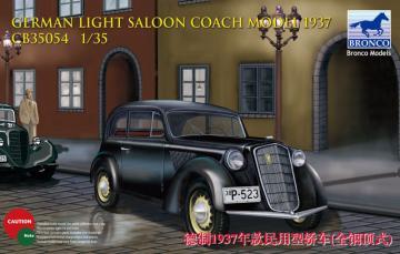 German Light Saloon Coach Mod.1937 · BRON CB35054 ·  Bronco Models · 1:35