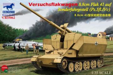 Versuchsflakwagen 8.8cm Flak 41 auf Sonderfahrgestell (Pz.SFL.IVc) · BRON CB35062 ·  Bronco Models · 1:35