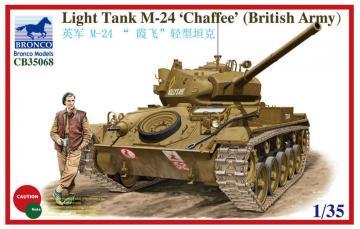 Light Tank M-24 Chaffee (British Version · BRON CB35068 ·  Bronco Models · 1:35